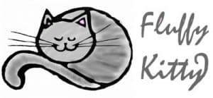 Cat furniture Logo Fluffy Kitty gris et rose