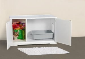 Cat Litter Box Furniture Washroom Bench