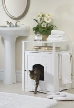 cat washroom-nightstand pet house