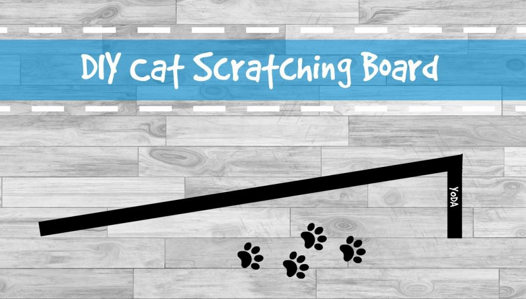 DIY cat scratching board header